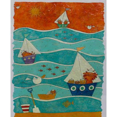 Ocean Waters by Helen Rhodes-Mounted