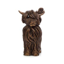 Finlay McMoo. Bronze sculpture by Jennifer Hogwood