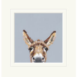 Well Hello, Donkey, limited edition print, by Nicky Litchfield