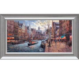 Morning on the Canal Amsterdam by Henderson Cisz